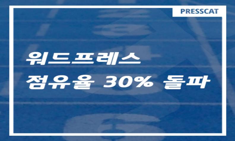 워드프레스의 웹사이트 점유율이 30%를 돌파했다